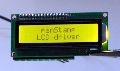 panStamp 2x16 LCD driver