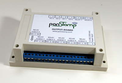 DIN rail / wall mountable enclosures for output-board