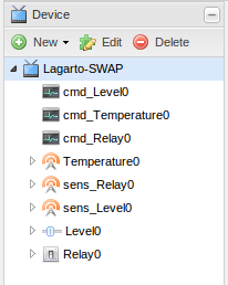 Device view from OpenRemote Designer