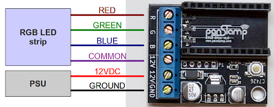 RGB driver connections